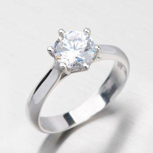 Zlatý prsten se zirkony DZ1885B