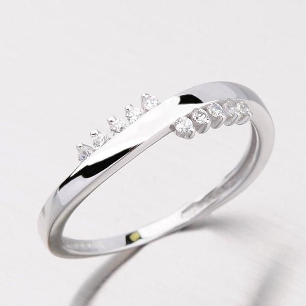 Dámský prsten se zirkony DZ2064B