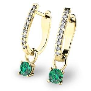 Diamantové náušnice se smaragdy 10862-ZL-SMA
