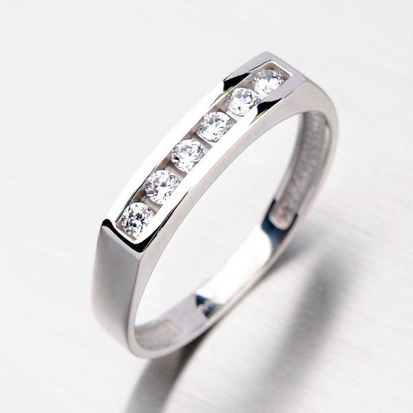 Zlatý prsten se zirkony DZ1863B