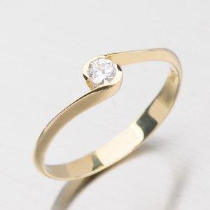 Zlatý prsten se zirkonem DZ1914ZL