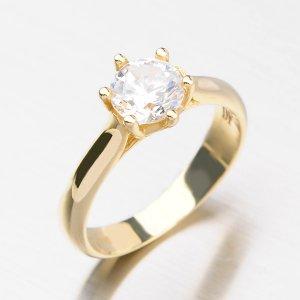 Zlatý prsten se zirkony DZ1885ZL