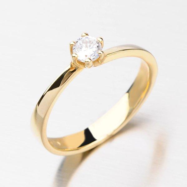 Dámský prsten ze zlata DZ1960ZL