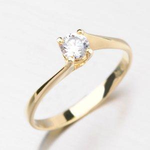 Zlatý prsten se zirkonem DZ1957ZL