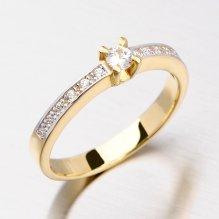 Zlatý prsten se zirkony DZ1917ZL
