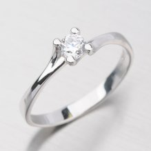 Zlatý prsten se zirkony DZ1855B
