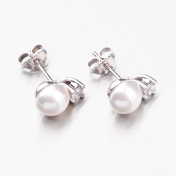 Náušnice pecky s perlou ORCZ6009