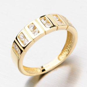 Prsten ze zlata se zirkony DZ2079ZL