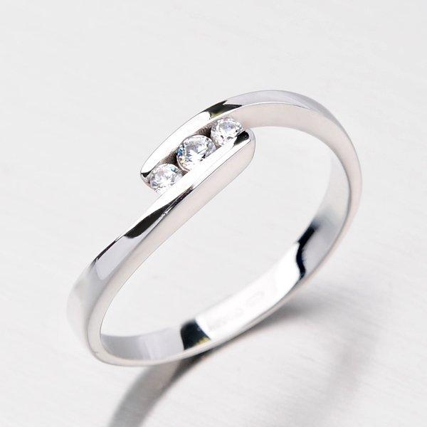 Dámský prsten se zirkony DZ2072B
