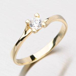 Zlatý prsten se zirkony DZ1855ZL