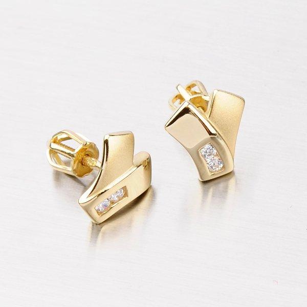 Náušnice ze zlata DZ1640ZL