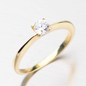 Elegantní prsten ze zlata DZ1232ZL