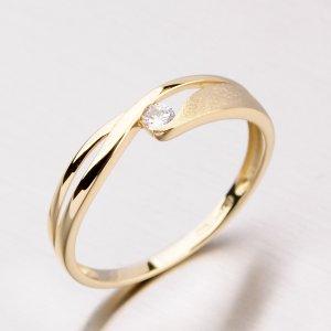 Prsten ze žlutého zlata DZ1721ZL