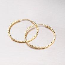 Kruhy zlaté - 29 mm 113-1436