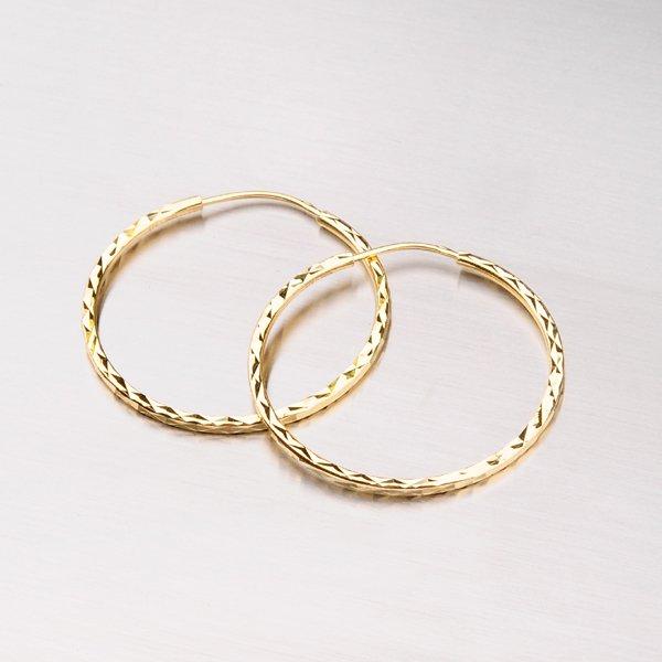 Kruhy zlaté - 30 mm 113-1436