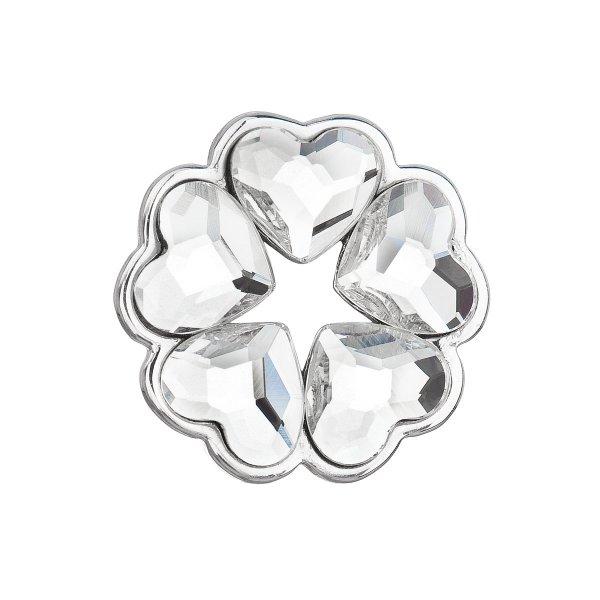 Stříbrný přívěsek s krystaly Swarovski bílé srdce 34234.1 34234.1