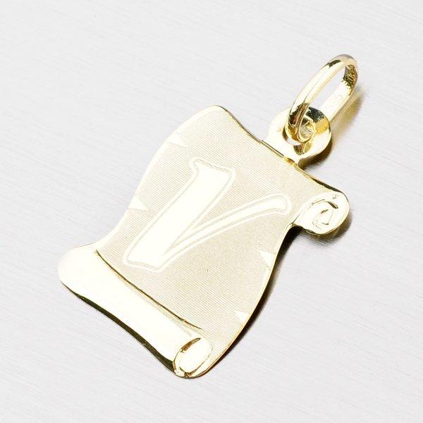 Zlatý pergamen s písmenkem V 43-2065-V