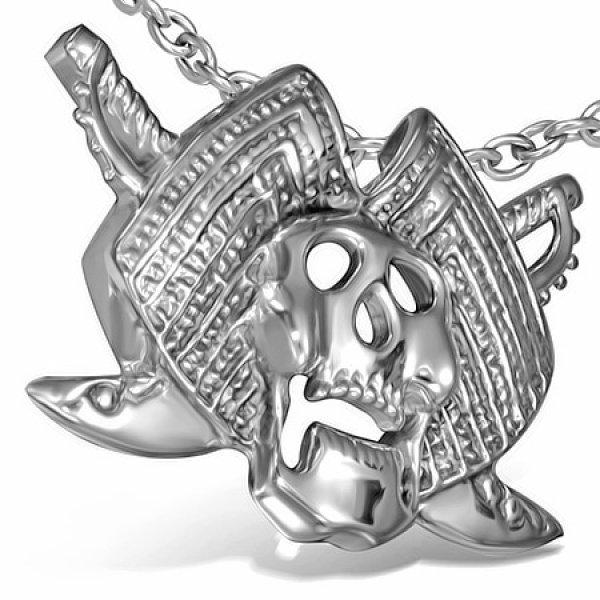 Ocelový přívěsek - lebka GHPV550