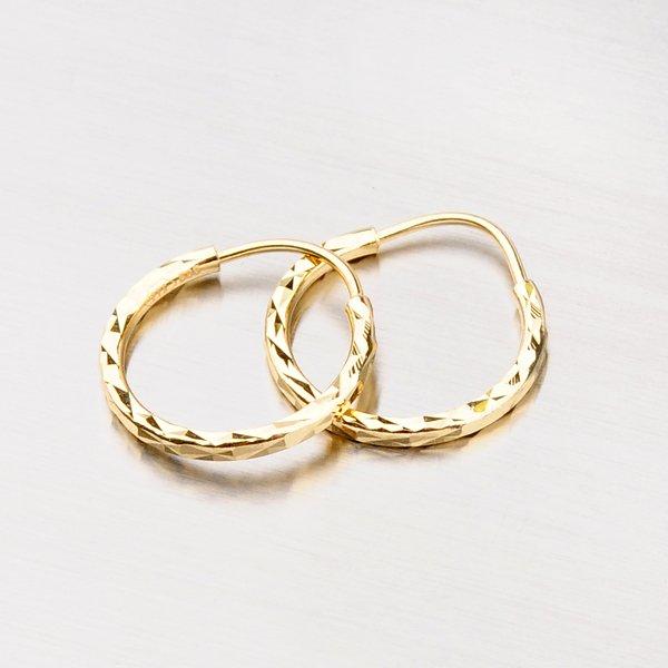 Kruhy zlaté - 15 mm 113-1427