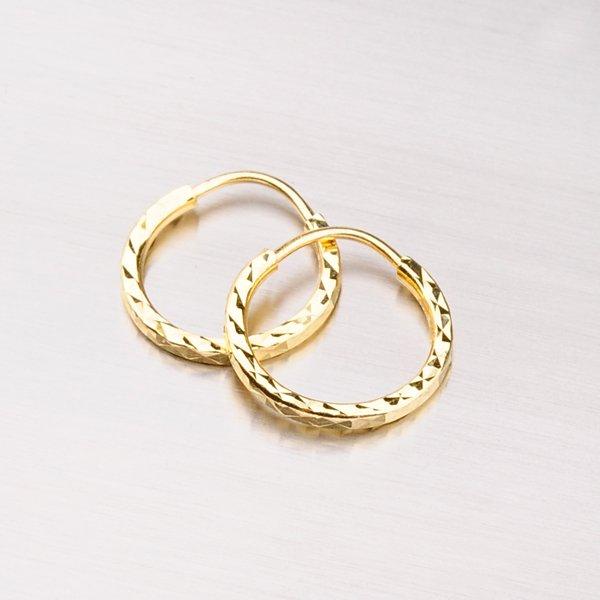 Kruhy zlaté - 13 mm 113-1452