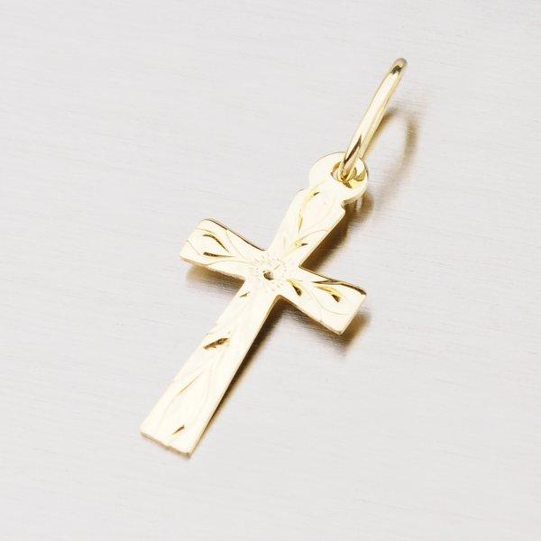 Zlatý křížek s facetami 322-0099