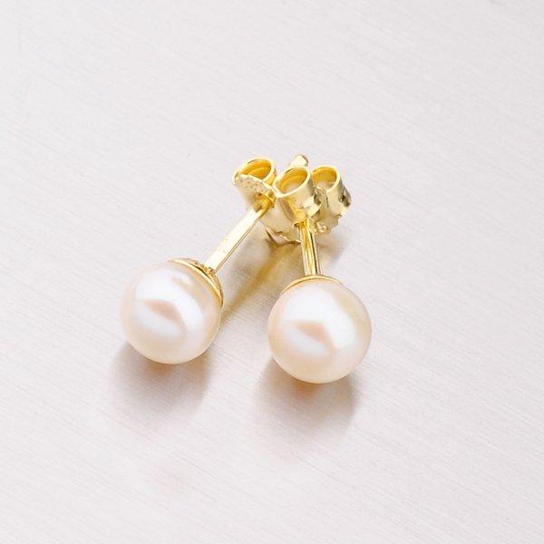 Náušnice pecky s perlou 203-3868