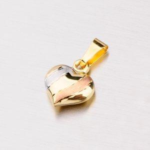 Zlaté srdíčko gravírované 142-0805