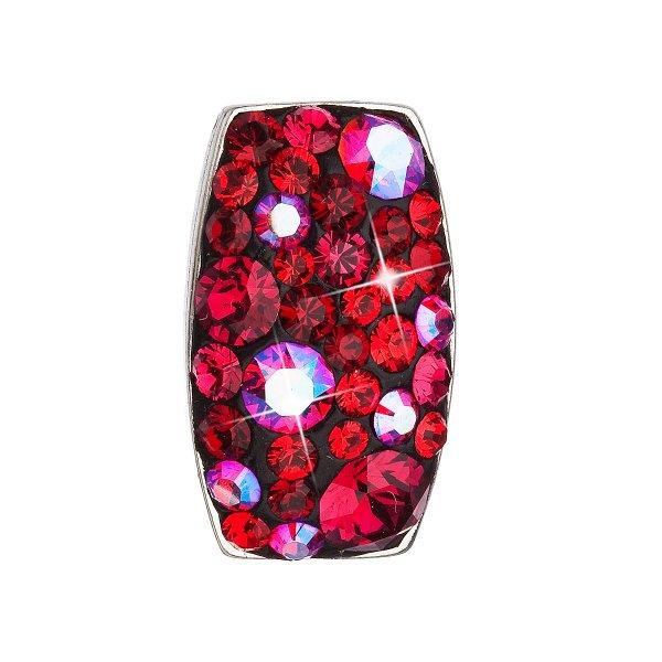 Stříbrný přívěsek s krystaly Swarovski červený obdélník 34194.3 cherry 34194.3