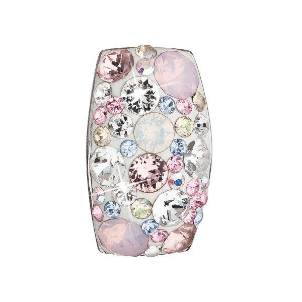 Stříbrný přívěsek s krystaly Swarovski růžový obdélník 34194.3 34194.3 MAGIC ROSE
