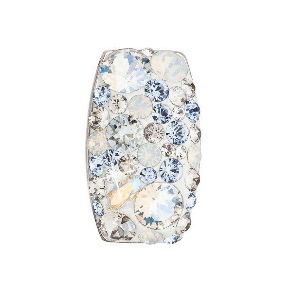 Stříbrný přívěsek s krystaly Swarovski modrý obdélník 34194.3 light sapphire 34194.3