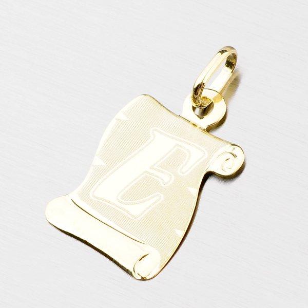 Zlatý pergamen s písmenkem E 43-2065-E