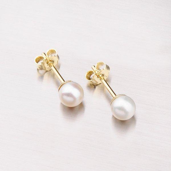 Náušnice pecky s perlou 203-3867
