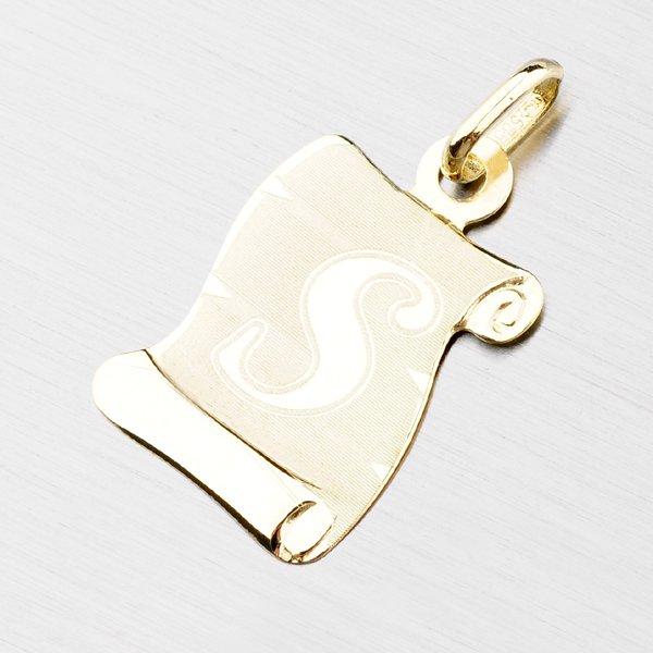 Zlatý pergamen s písmenkem S 43-2065-S