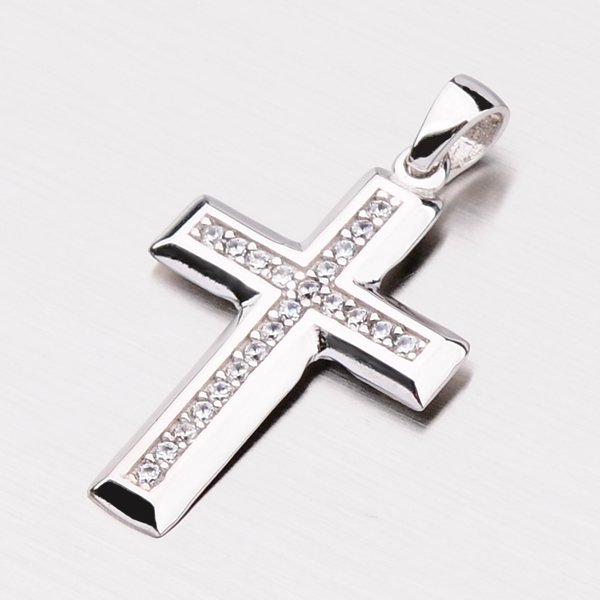 Zlatý křížek se zirkony 117-8029