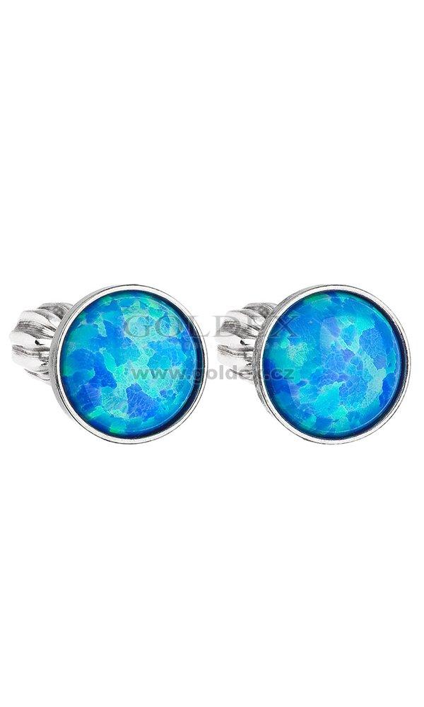Náušnice se Swarovski ELEMENTS 11001.3 BLUE S. OPAL   Goldex.cz 03396039c81