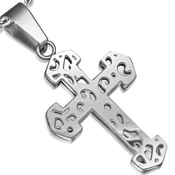 Přívěsek - kříž z oceli GPLY797