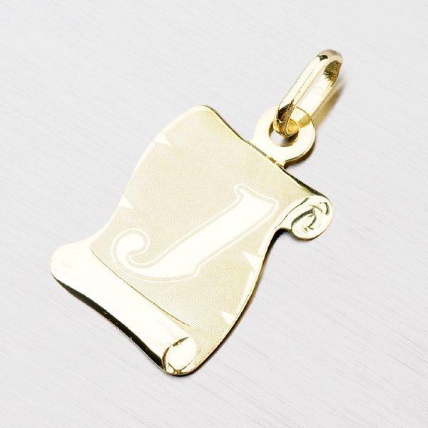 Zlatý pergamen s písmenkem J 43-2065-J