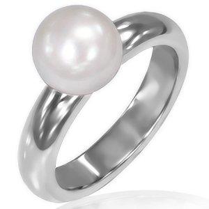 Prsten zdoben sladkovodní perlou GRCZ135