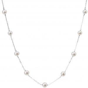 Perlový náhrdelník z pravých říčních perel bílý 22013.1 22013.1