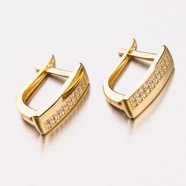 Zlaté náušnice se zirkony 42-31942