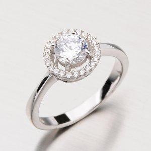 Stříbrný prsten se zirkony RXX18150033