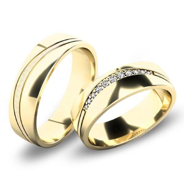 Snubní prsteny ze žlutého zlata SP-61072Z