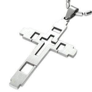 Přívěsek z oceli - kříž GTPB022