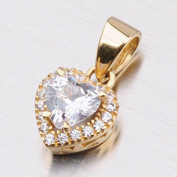 Zlatý přívěsek ve tvaru srdce 13-226