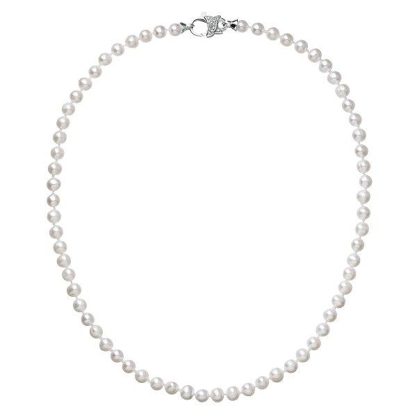 Perlový náhrdelník z pravých říčních perel bílý 22002.1 22002.1