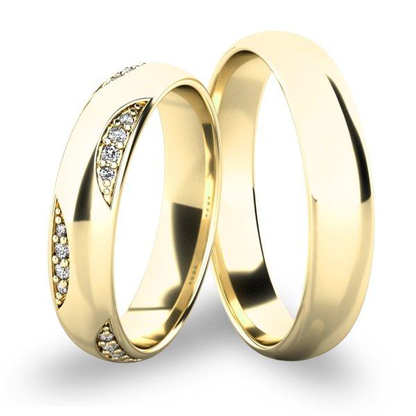 Snubní prsteny - žluté zlato SP-61066Z