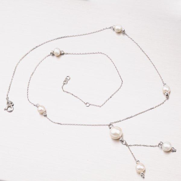 Zlatý perlový náhrdelník 45-1837