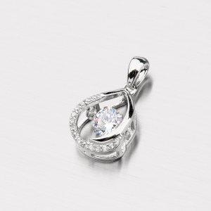 Stříbrný přívěsek se zirkony PXX27180103
