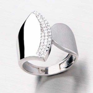 Stříbrný prsten se zirkony HK-666-OKS