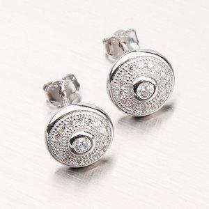 Stříbrné náušnice pecky GLM12-028